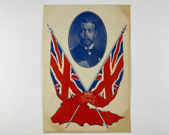 Souvenir Card of Prince George (His Majesty George V) with Union Jacks