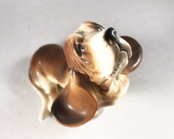 Vintage Made in Japan Kelvins Basset Hound Figurine