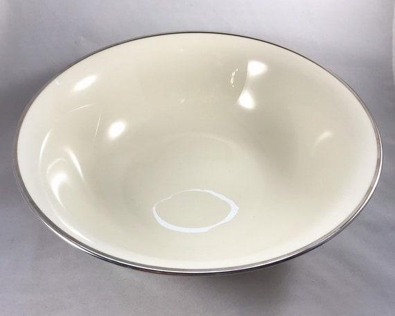 Vintage Lenox China - Montclair Platinum Large Serving Bowl