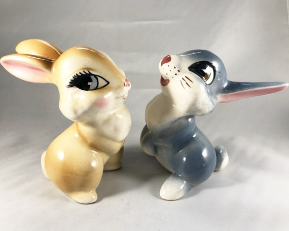 Thumper and Girlfriend - Vintage Disney Ceramics