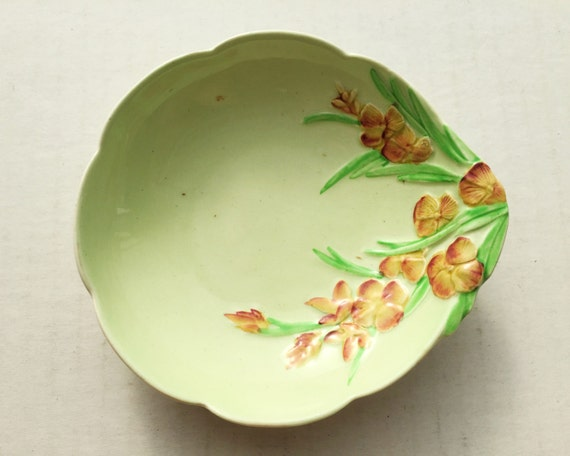 Vintage Carlton Ware Wallflower Salad Ware Butter or Jam Dish c1938 - Made in England Carltonware