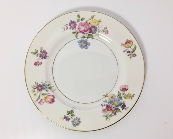 Haviland Pasadena Pattern Salad Plate - Theodore Haviland New York - Haviland Limoges - Floral Bouquets
