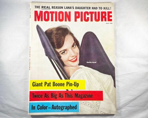 Motion Picture Movie Magazine July 1958 - Cover Natalie Wood - Inside Cheryl Crane, Pat Boone, Rock Hudson, Elvis Presley, Judy Garland