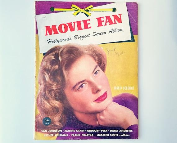 Vintage Movie Fan Magazine - 1946 - Cover Ingrid Bergman -  inside Jane Russell, Joseph Cotton, Dick Powell, June Allyson and Lana Turner