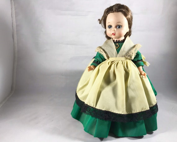 "Vintage Madame Alexander-Kins ""Marme"" 8 Inch Doll in Green Dress"