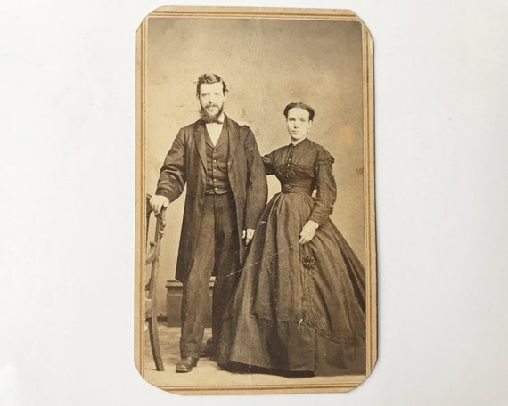 Antique Carte de Visite CDV Photograph of Victorian Couple, New York