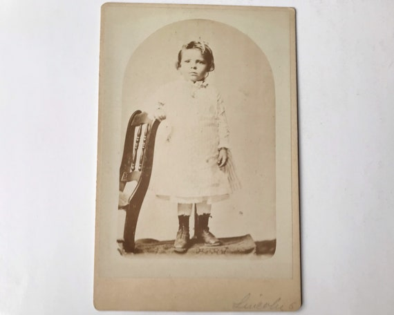 Antique Cabinet Card of Portrait of Young Girl