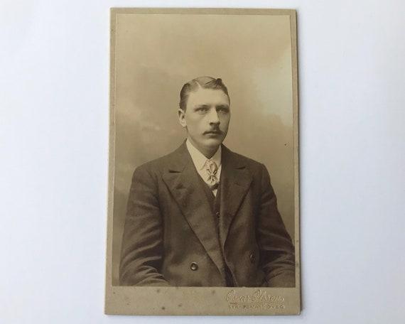 Antique Carte de Visite CDV Photograph of Victorian Man from Kyrkogatan (Göteborg), Sweden