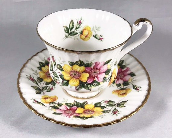Paragon Dog Rose Bone China Teacup and Saucer - Royal Warrant - Royal Albert