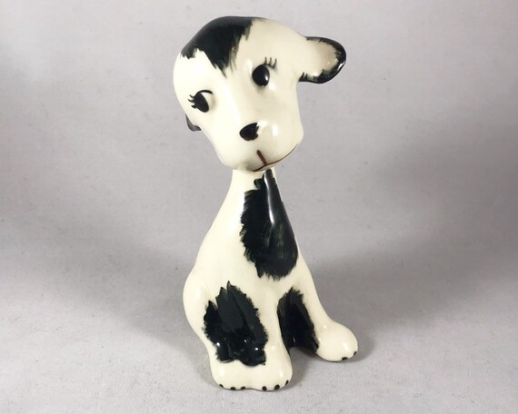 "Robert Simmons ""Pals"" Dog Figurine - Mid Century California Pottery"