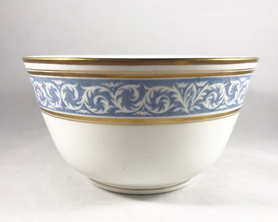 "Thomas Morris Crown Chelsea ""Scroll"" Pattern Deep Serving Bowl"