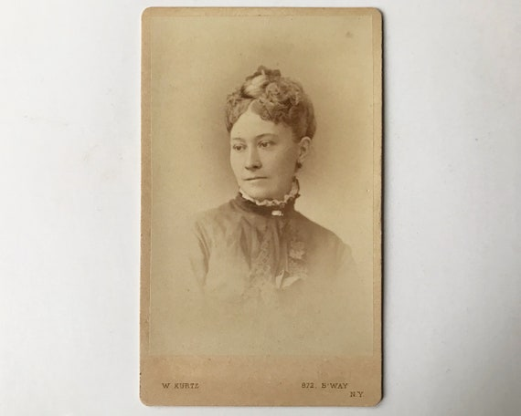 Antique Carte de Visite CDV Photograph of Victorian Woman, New York