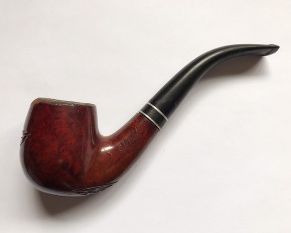 Vintage Frank Medico Medalist Smoking Pipe with Briar Root - Bent Billiard
