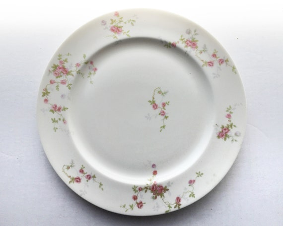 Theodore Haviland Touraine Dinner Plate - Made in New York - Pink Roses