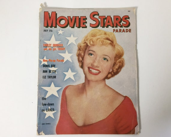 Vintage Movie Stars Parade Magazine - July 1951 - Cover Jane Powell -  inside Gene Kelly, Susan Hayward, and An American in Paris