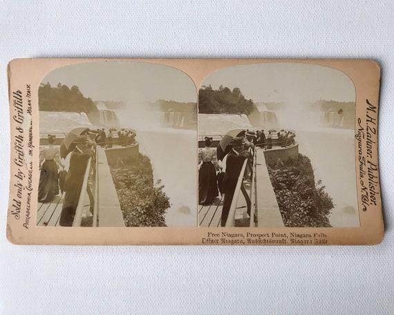 Free Niagara, Prospect Point, Niagara Falls, Griffith & Griffith Stereoview, M. H. Zahner, Photographer