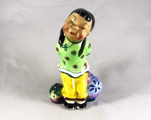 Vintage Py Miyao Chinese Girl Figurine