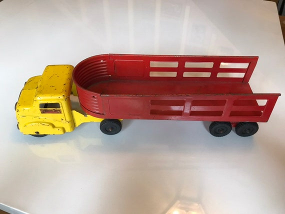 Vintage Structo Toy Co. Overland Freight Truck and Trailer