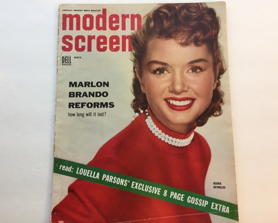 Modern Screen Magazine November 1954 - Cover Debbie Reynolds - Vintage Movie Magazine - Inside Marilyn Monroe & Montgomery Cliff