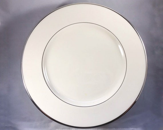 Vintage Lenox China - Montclair Platinum Large Dinner Plate