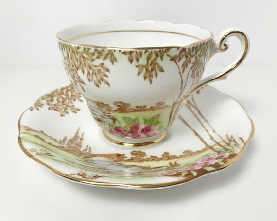 Royal Standard Meadowland Teacup - Vintage Tea Time - Floral Pattern Very Pretty