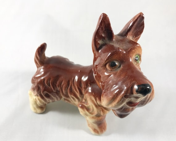 Vintage Made in Japan Brown Terrier - Adorable Dog Figurine
