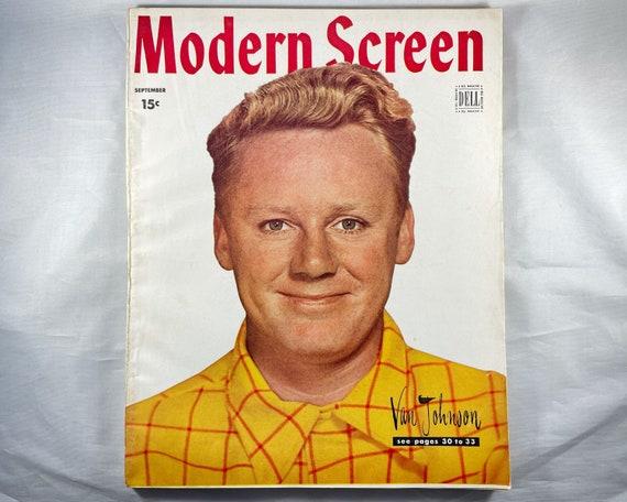 Modern Screen Magazine Sept 1946 - Cover Van Johnsn, Inside Ingrid Bergman, Guy Madison, Shirley Temple and Judy Garland