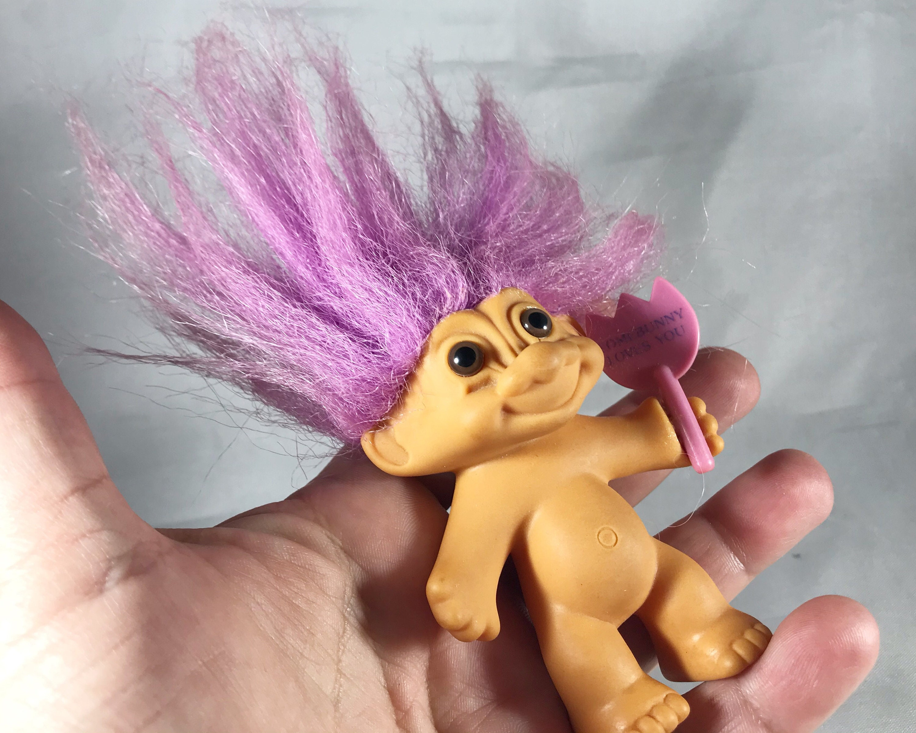 Vintage Russ Troll Doll - Some Bunny Loves You with Pink
