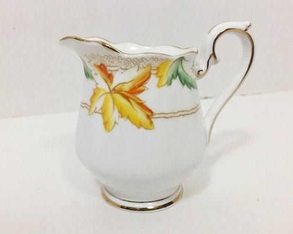 "Vintage Royal Albert ""Maple Leaf"" Mini Creamer - English Bone China - Charming Autumn Color - Canadian Maple Leaf"