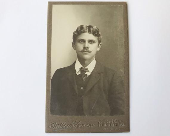 Antique Carte de Visite Swedish CDV Photograph of Victorian Dandy from Kristinehamn, Sweden