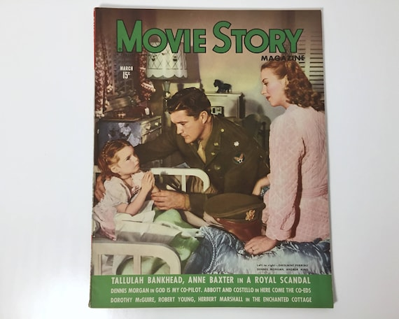 Vintage Movie Story Magazine March 1945 - Cover God is My Co-Pilot - Inside Abbott and Costello, Tallulah Bankhead & Leave it to Blondie