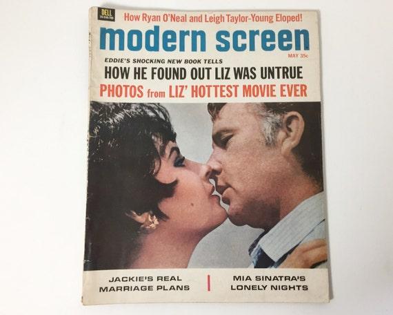 Modern Screen Magazine May 1967 - Cover Elizabeth Taylor & Richard Burton - Vintage Movie Magazine - Inside Julie Andrews, Sophia Loren