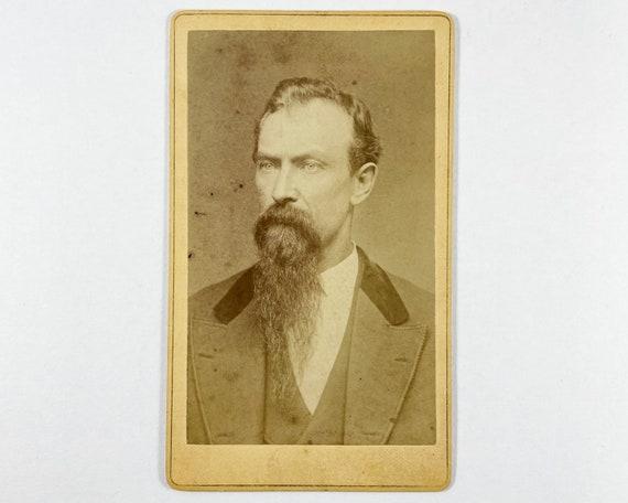 Antique Carte de Visite CDV Photograph of Victorian Man with Impressive Beard