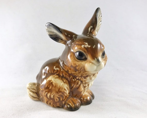 Vintage Goebel Rabbit Figurine - Porcelain Bunny - West Germany
