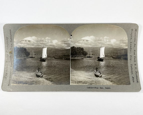 Keystone View Company Stereoview of Fuji San, Japan, Copyright 1905 # 14812
