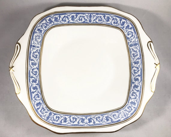 "Thomas Morris Crown Chelsea ""Scroll"" Pattern Sandwich Plate or Cake Plate - Serving Dish"