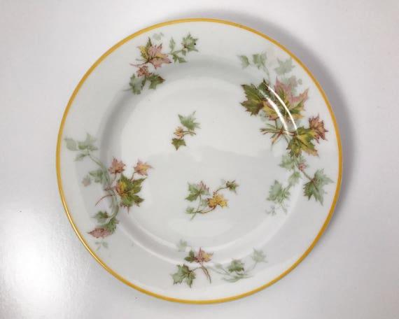 Haviland Limoges Autumn Leaf Bread & Butter Plate - Vintage Porcelain