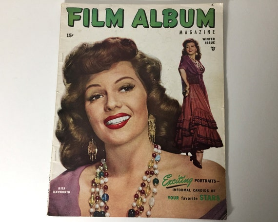 Vintage Film Album Movie Magazine - Winter 1949 - Cover Rita Hayworth -  inside Dana Andrews, Barbara Stanwyck, Roy Rogers, Gregory Peck