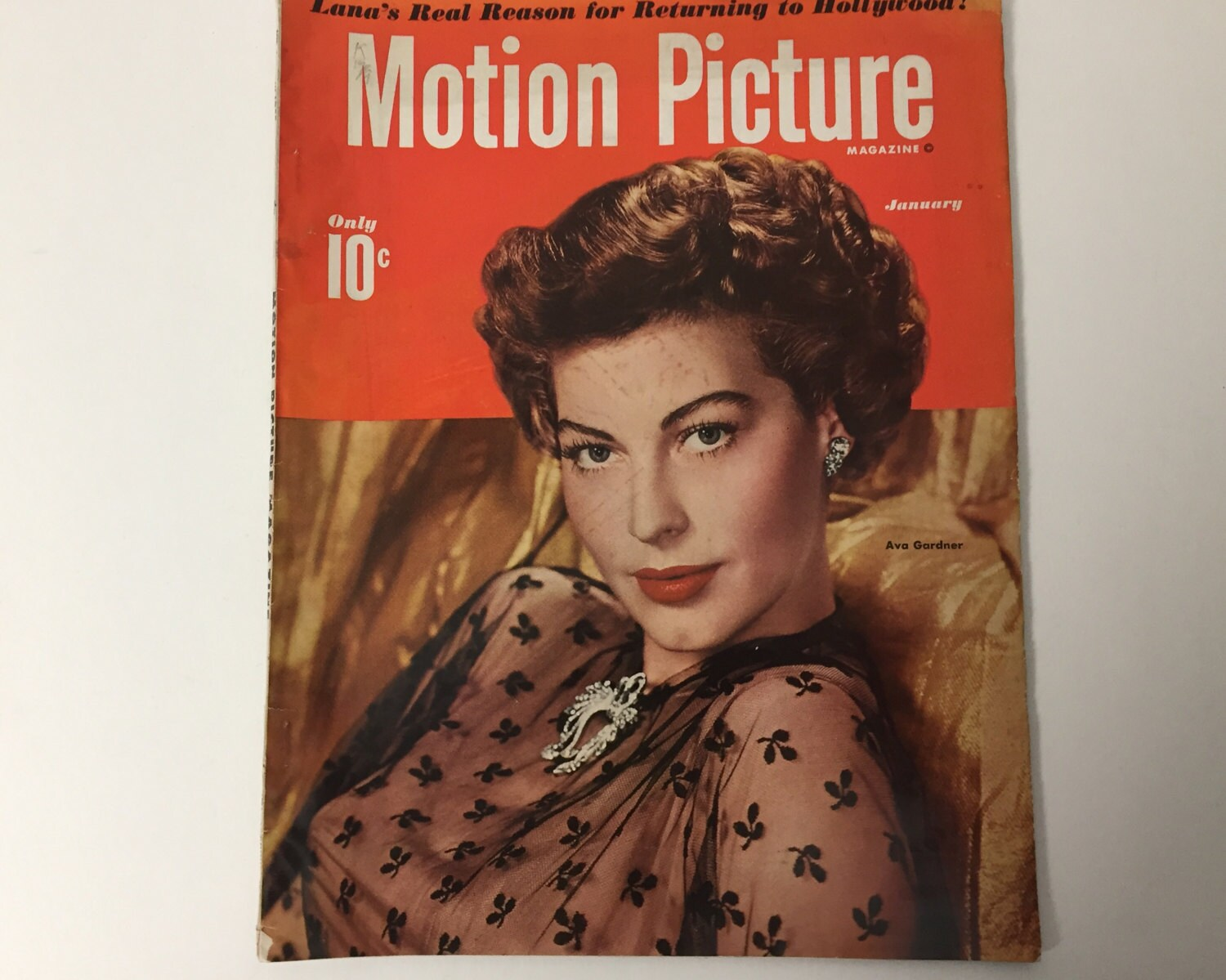 Motion Picture Magazine January 1950 - Cover Ava Gardner - Vintage ...
