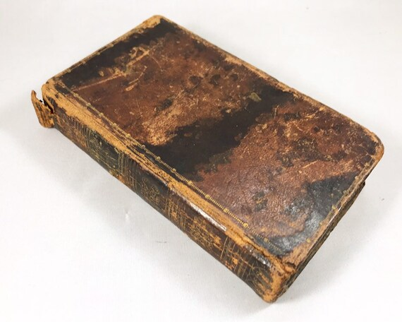 Antique Leather Bound Book - The Circle of Anecdote and Wit by George Colman, Pub. S. King, New York 1825