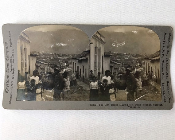 Keystone View Company Antique Stereoview - The City Baker Making His Daily Rounds, Caraca, Venezuela
