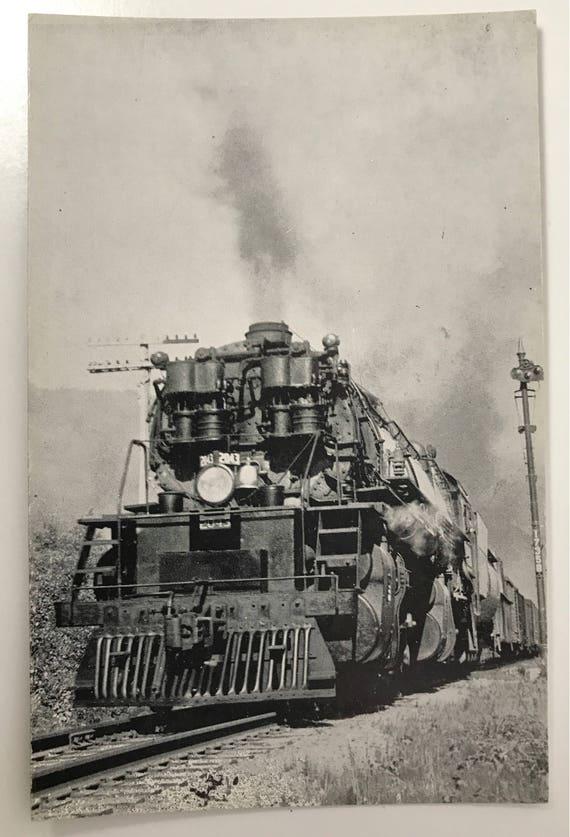 Etch Tone Postcard - Black and White Railroadiana - Great Northern Freight Train Engine - Western Washington Near Skykomish