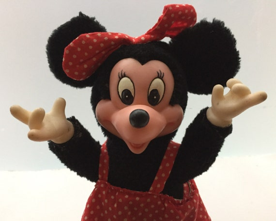 Vintage Minnie Mouse Plush and Vinyl Doll by Applause Toys - Circa 1980s - Adorable Disney Collectible