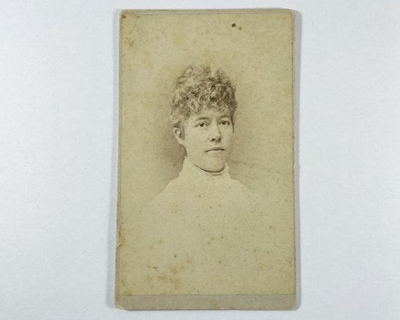 Antique Carte de Visite CDV Photograph of Victorian Woman, Schenectady, New York
