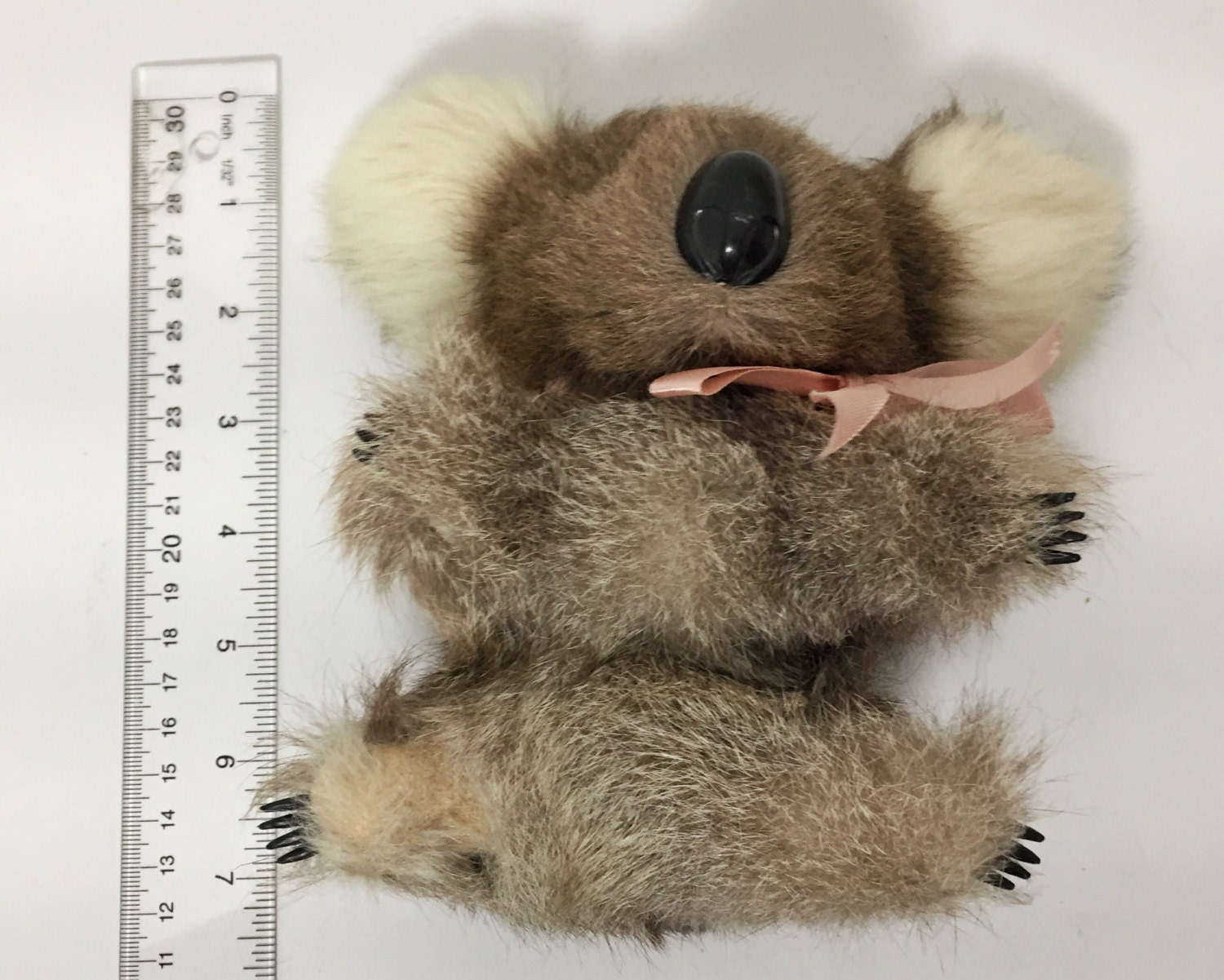 Vintage Plush Koala Bear - Soft Real Fur - Made in ...