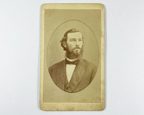 Antique Carte de Visite CDV Photograph of Victorian Man with Mutton Chops, New York, Abraham Borgardus, Photographer