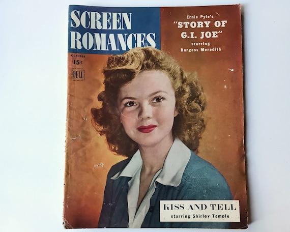 Screen Romances October 1945 - Cover Shirley Temple - Vintage Movie Magazine - Inside Judy Garland, Abbott & Costello