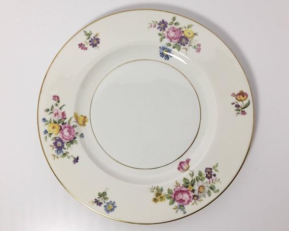 Haviland Pasadena Pattern Large Dinner Plate - Theodore Haviland New York - Haviland Limoges - Floral Bouquets