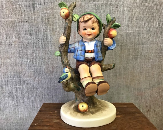 "Vintage Hummel ""Apple Tree Boy"" 142/1 TMK 3 - Charming Goebel Figurine of Boy Perched in an Apple Tree"