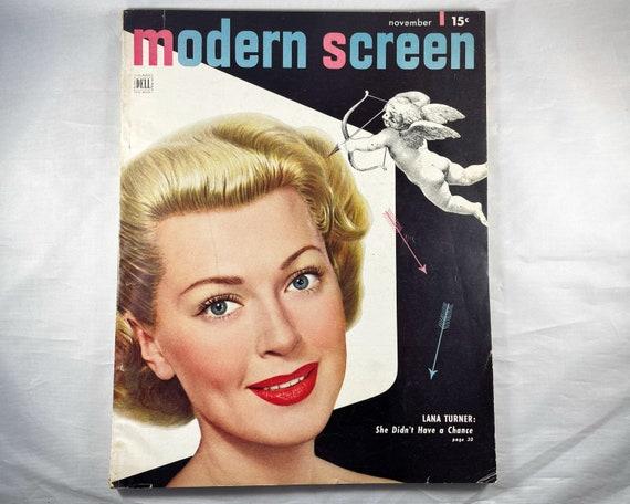 Modern Screen Magazine November 1948 - Cover Lana Turner, Inside Ava Gardner, Alan Ladd, Ann Sheridan and Rex Harrison